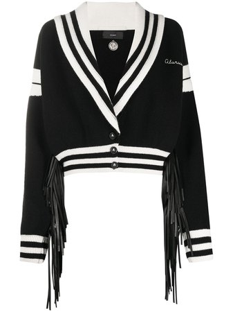 Alanui Two-Tone Cropped Cardigan Ss20 | Farfetch.com