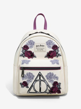 Loungefly Harry Potter Floral Deathly Hallows Mini Backpack