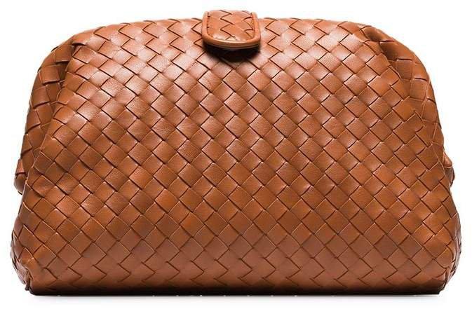 orange The Lauren 1980 intrecciato leather clutch