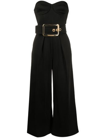 Elisabetta Franchi Belted Strapless Jumpsuit - Farfetch