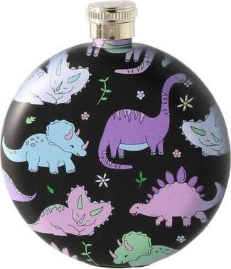 Punky Pins - Pastel Pink Dinosaur Hip Flask - Buy Online Australia – Beserk