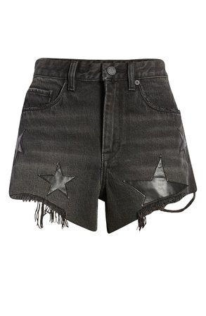BLANKNYC The Barrow Star Patch Denim Shorts (Upon A Star) | Nordstrom