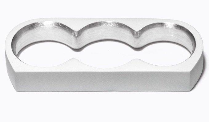 silver multi finger ring