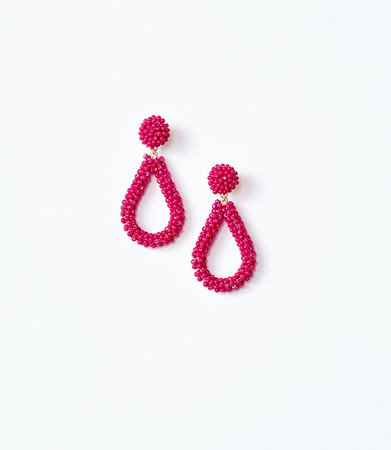 Seed Beaded Teardrop Earrings