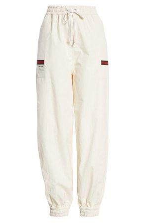 Gucci white sweat pants
