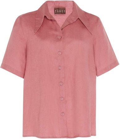 Albus Lumen ALBUS LUMEN Agaso Short Sleeve Linen Shirt