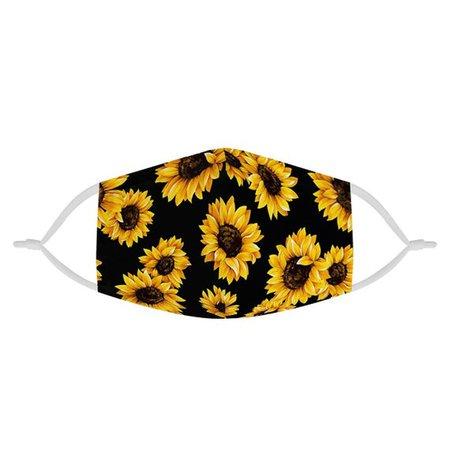 Sunflower Pattern 100% Soft Pima Cotton Triple Layer Face | Etsy