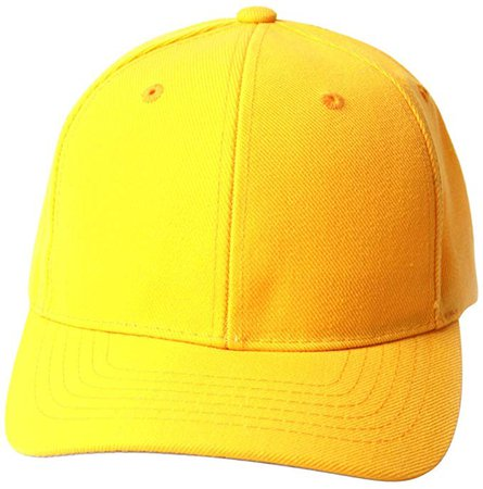 TOP HEADWEAR TopHeadwear Solid Yellow Adjustable Hat at Amazon Men's Clothing store: Baseball Caps