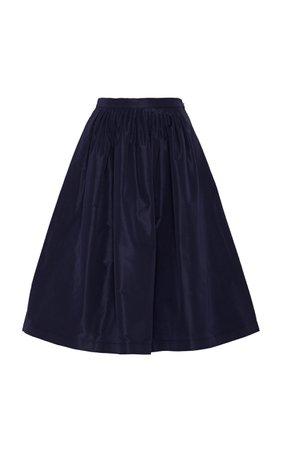 Ralph Lauren Emilia Faille A-Line Skirt