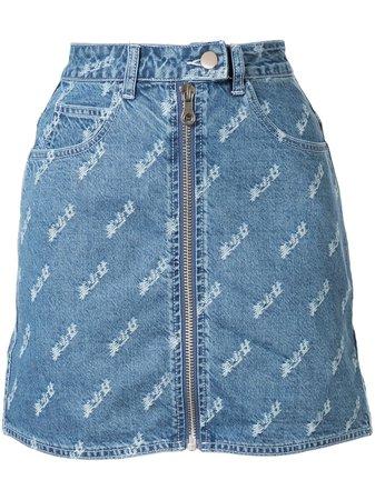 Ground Zero Zipped Denim Skirt - Farfetch