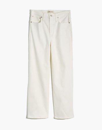 Women's Slim Wide-Leg Jeans in Tile White | Madewell