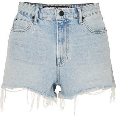Bite Frayed Denim Shorts - Light denim