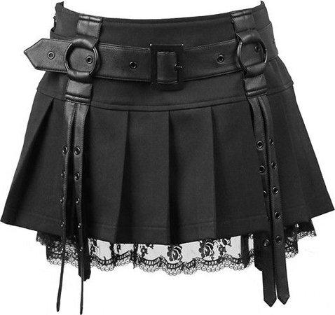 goth black skirt