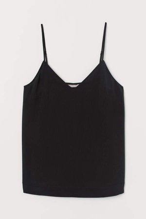Silk Camisole Top - Black