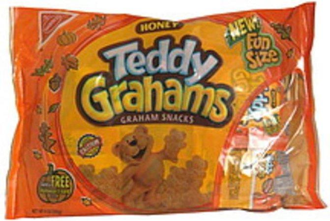 Teddy Grahams Honey, Fun Size, Halloween Graham Snacks - 9 oz, Nutrition Information | Innit