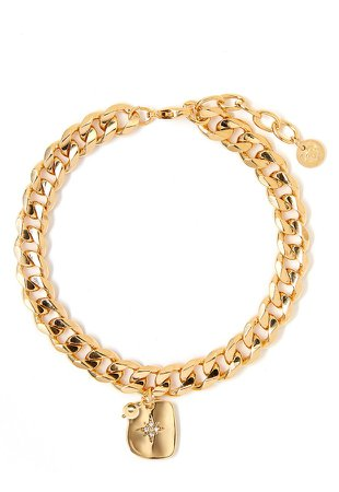 Textured Star Charm Bracelet