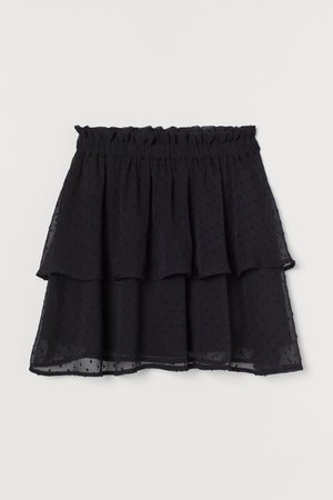 Chiffon Skirt - Black - Ladies | H&M US