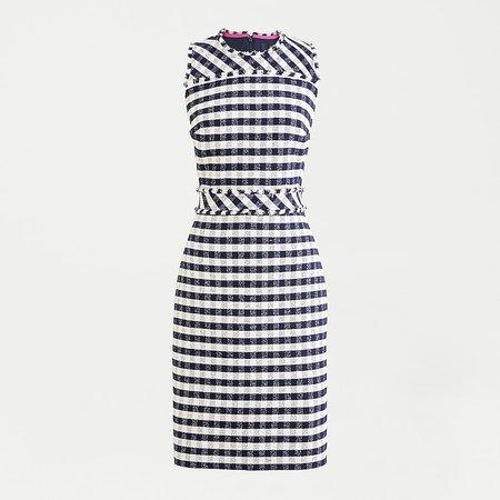 J.Crew: Sheath Dress In Gingham Tweed For Women