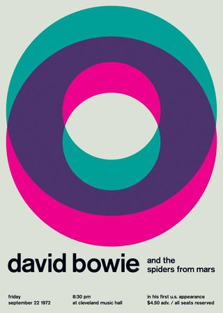 david bowie at cleveland music hall, 1972   Swissted