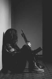 girl holding gun aesthetoc - Google Search