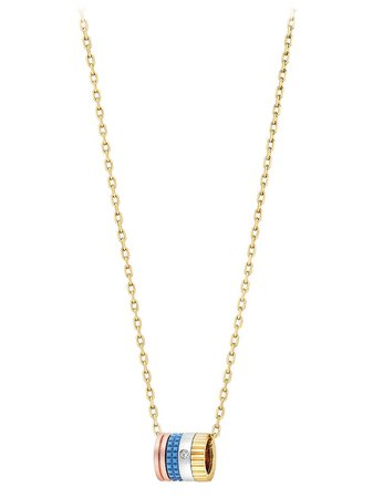 Shop gold Boucheron 18kt yellow gold diamond Quatre mini ring pendant necklace with Express Delivery - Farfetch