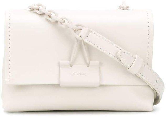 Off White mini binder clip crossbody bag