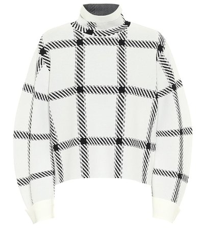 Stella McCartney - Checked funnel-neck sweater | Mytheresa