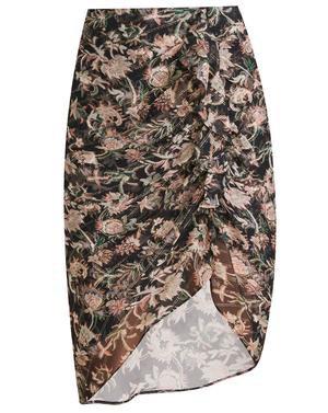 Hazel Floral-Print Skirt | Veronica Beard