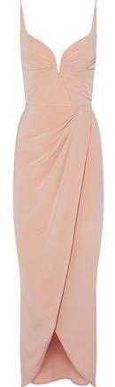Pleated Silk-crepe Gown