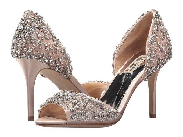 Badgley Mischka - Shaina (Light Pink Satin) Women's Slip-on Dress Shoes