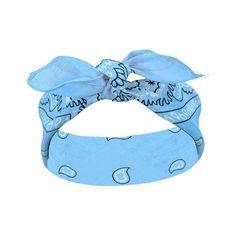 bandana set 12 pcs /sky blue/ - ZOHRA | Hurtownia importer bi¿uterii... ❤ liked on Polyvore featuring accessor… | Blue headband, Bandana headband, Bandanna headband