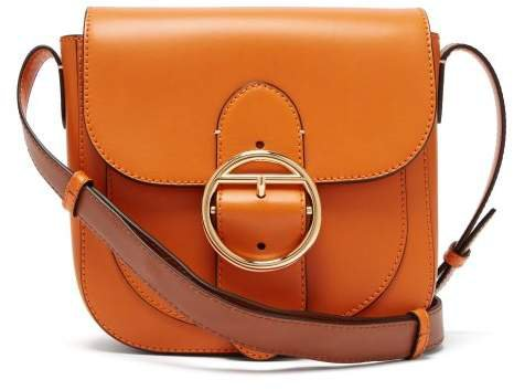 Knight 25 Leather Cross Body Bag - Womens - Orange