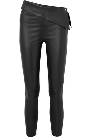 RtA | Rumer cropped stretch-leather leggings | NET-A-PORTER.COM
