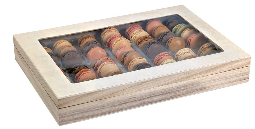 Large Wood Macaron Box