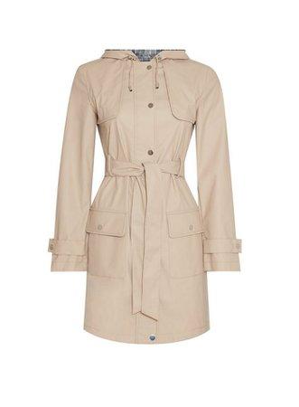 Stone Raincoat Mac Coat | Dorothy Perkins