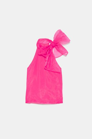 ORGANZA BLOUSE WITH TIE - View All-DRESS TIME-WOMAN-CORNER SHOPS | ZARA United States