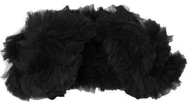 Molly Goddard - Estelle Ruffled Tulle Cape - Black