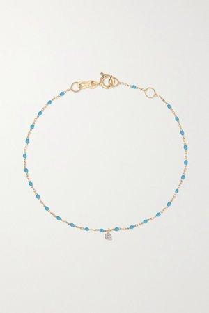 Gold Mini Gigi 18-karat gold, resin and diamond bracelet   GIGI CLOZEAU   NET-A-PORTER