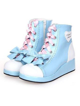 blue fairy kei shoes