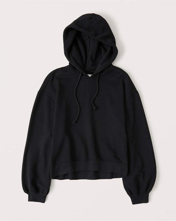 Black Women's Puff-Sleeve Hoodie | Women's New Arrivals | Abercrombie.com