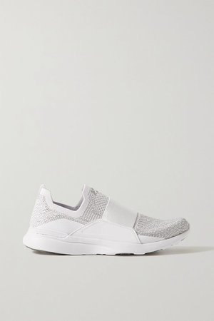 White TechLoom Bliss mesh and neoprene sneakers | APL Athletic Propulsion Labs | NET-A-PORTER