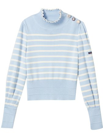 Marc Jacobs striped knit jumper with button detail