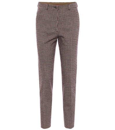 Etro - Houndstooth cotton-blend pants | Mytheresa