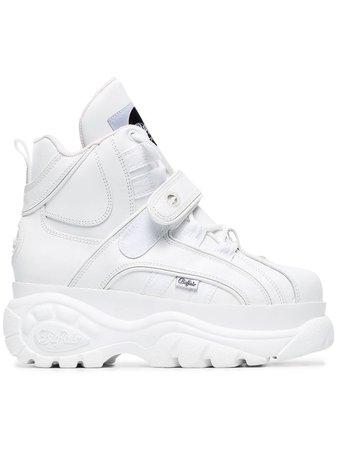 Buffalo White 1348 Platform Sneaker Boots - Farfetch
