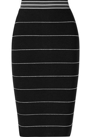 Hervé Léger   Striped bandage skirt   NET-A-PORTER.COM