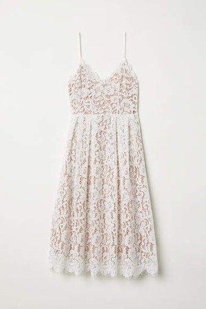Lace Dress - White
