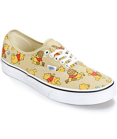 Disney x Vans Authentic Winnie The Pooh Skate Shoes | Zumiez