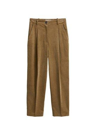 MANGO Corduroy straight trousers