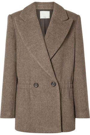 Tibi | Brushed herringbone wool-blend jacket | NET-A-PORTER.COM