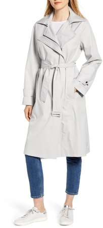 Hooded Water Resistant Trench Coat